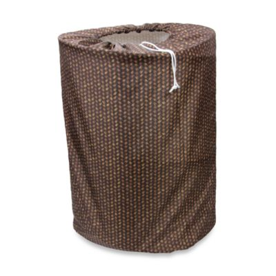 Park B. Smith® Bamboo Basket Brown Laundry Bag