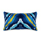Trina Turk® Trellis Chevron Oblong Toss Pillow in Turquoise