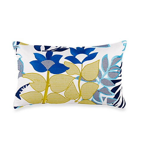 Trina Turk® Trellis Floral Oblong Throw Pillow in Turquoise