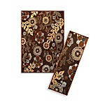 Bristol Floral Rugs in Brown
