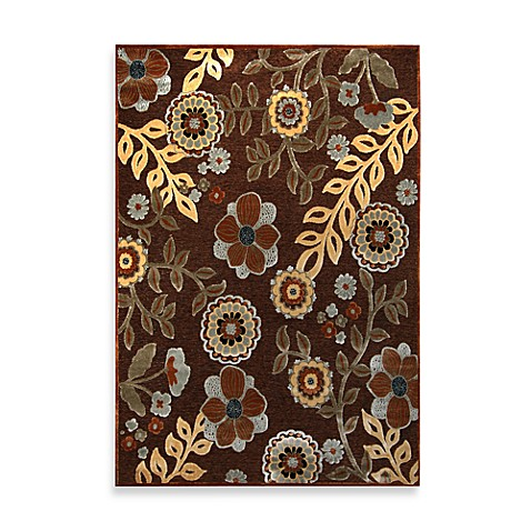 "Bristol Brown Floral 1' 8"" x 5' Runner"