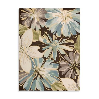 Nourison Bloom Blast Chocolate Accent Rug - 30-Inch x 48-Inch