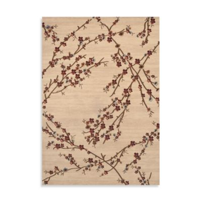 World Rug Gallery Elite Collection Branches 5-Foot 3-Inch x 7-Foot 4-Inch Room Size Rug in Beige