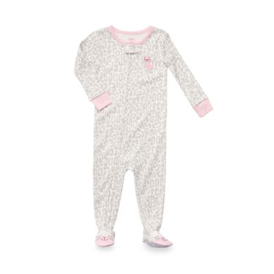 Carter's® Leopard Pink Kitty 1-Piece Jersey PJ