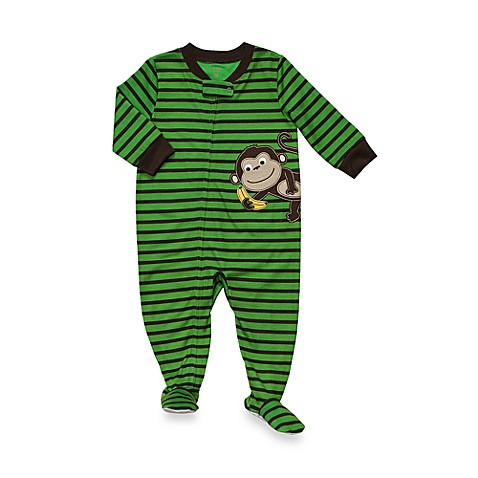 Carter's® Green Monkey 1-Piece Jersey PJ - 18 Months