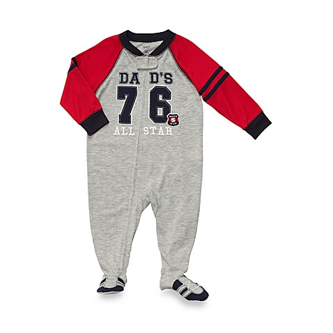 Carter's® Size 24 Months All-Star 1-Piece Jersey PJ in Heather Gray