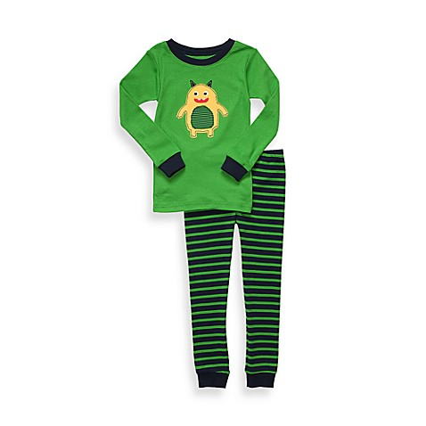 Carter's® Size 2T Monster Snug Fit Cotton 2-Piece PJs in Green