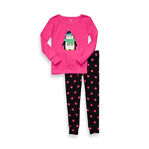 Carter's® Size 4T Penguin Snug Fit Cotton 2-Piece PJs in Pink