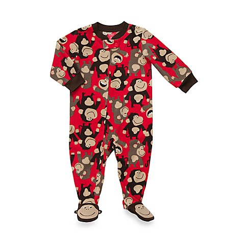 Carter's® Monkey 1-Piece Micro-Fleece PJ - 12 Months