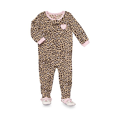 Carter's® Leopard 1-Piece Micro-Fleece PJ - 18 Months