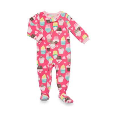 Carter's® Pink Cupcake 1-Piece Micro-Fleece PJ