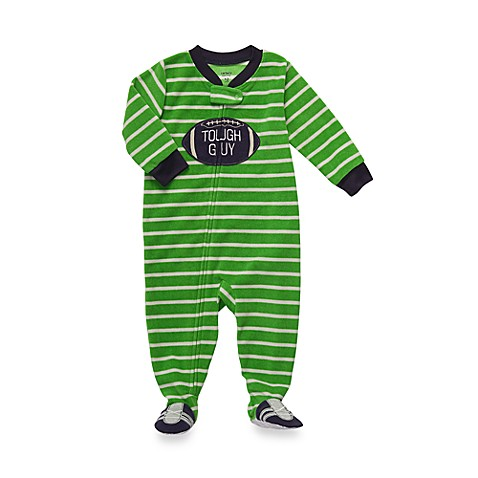 Carter's® Green Tough Guy 1-Piece Micro-Fleece PJ - 12 Months
