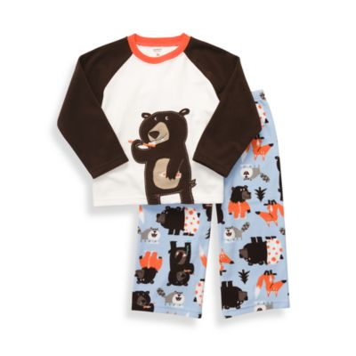 Carter's® Tooth Brush Bear 2-Piece Micro-Fleece PJs