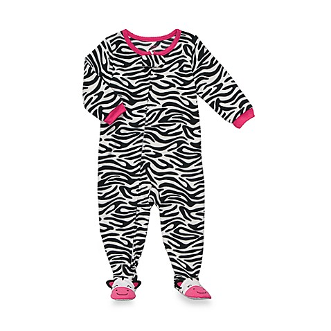 Carter's® Zebra 1-Piece Micro-Fleece PJ - 12 Months