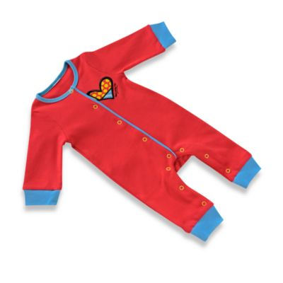 Britto™ Baby Red Heart Size 12 Months Sleeper