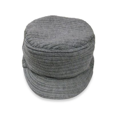 Ribbed Cap in Grey in 0 to 6 Months