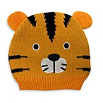 Cotton Knit Tiger Hat in Orange