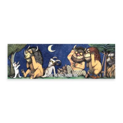 Where the Wild Things Are Max Be Still 36-Inch x 12-Inch Wall Art