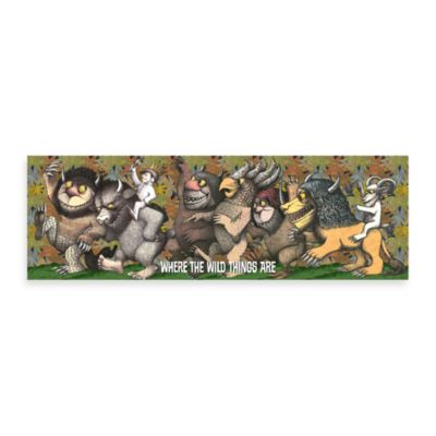 Where the Wild Things Are Max King 36-Inch x 12-Inch Wall Art