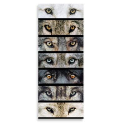 Wolf Eyes 12-Inch x 30-Inch Printed Canvas