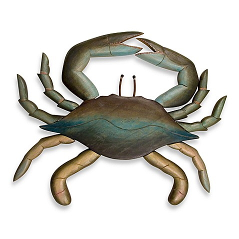 Blue Crab Wooden Wall Art