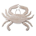 Blue Crab Whitewashed Wall Art