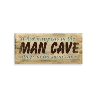 PLAQ MAN CAVE 18X8