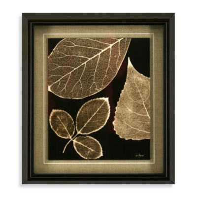 Taupe Trinity Wall Art 14-Inch x 16-Inch Three Leaf
