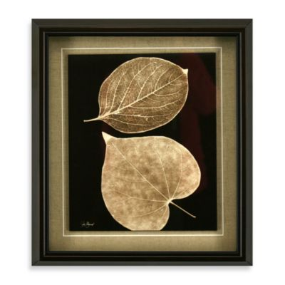 Taupe Trinity Wall Art 14-Inch x 16-Inch Two Leaf