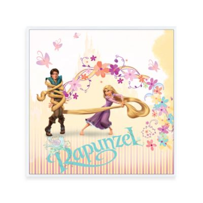 Tangled Rapunzel and Flynn 12-Inch x 12-Inch Wall Art