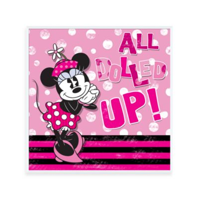 Dolled Up Minnie 12-Inch x 12-Inch Wall Art