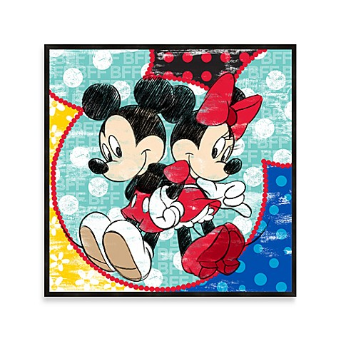 Mickey & Minnie Disney Best Friends 12-Inch x 12-Inch Wall Art