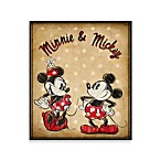 Mickey and Minnie Vintage-Look 12-Inch x 14-Inch Wall Art
