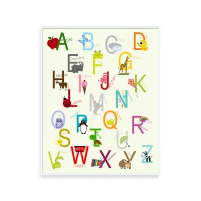 Alphabet 16-Inch x 20-Inch Wall Art