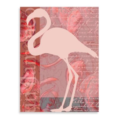 Artsy Flamingo Wrapped Canvas Wall Art
