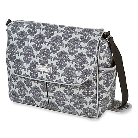 The Bumble Collection Ashley Grey Messenger Diaper Bag