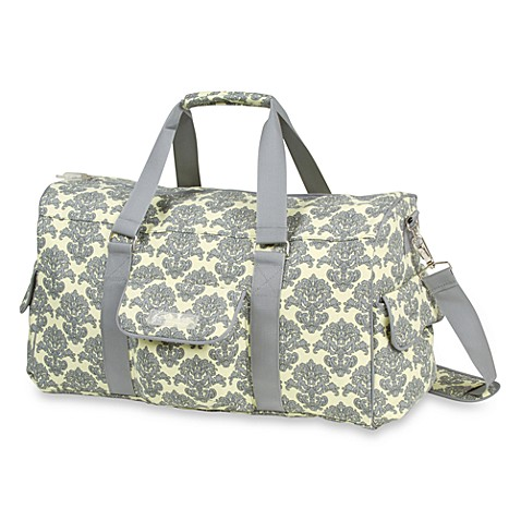 The Bumble Collection Jennifer Weekender Yellow Filagree Diaper Bag