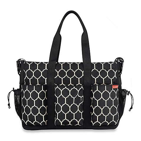 SKIP*HOP® Double Duo Diaper Bag in Onyx Tile