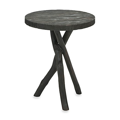 Safavieh American Home Quinn Tripod Round End Table in Black