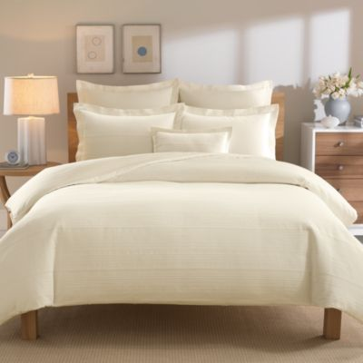 Real Simple® Linear Twin Duvet Cover in Ivory