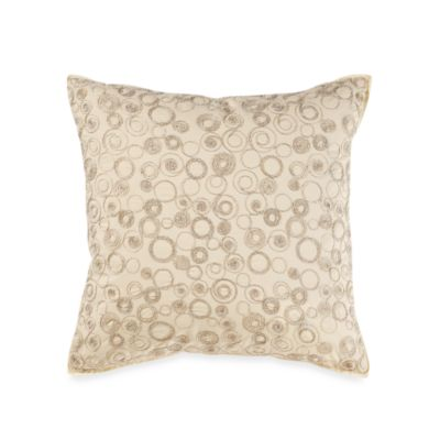 Real Simple® Linear Square Throw Pillow in Ivory
