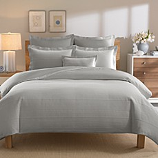 Real Simple® Linear Grey Duvet Cover