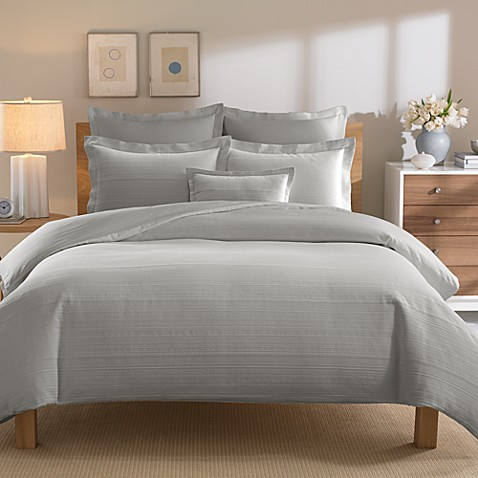 Real Simple® Linear Twin Duvet Cover in Grey