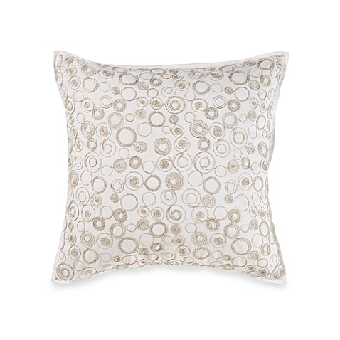 Real Simple® Linear Square Toss Pillow in White