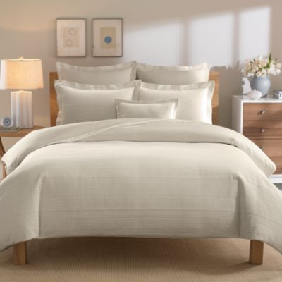 Real Simple® Linear Stone Twin Duvet Cover