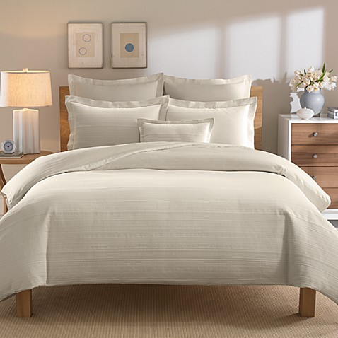 Real Simple® Linear Duvet Cover in Stone