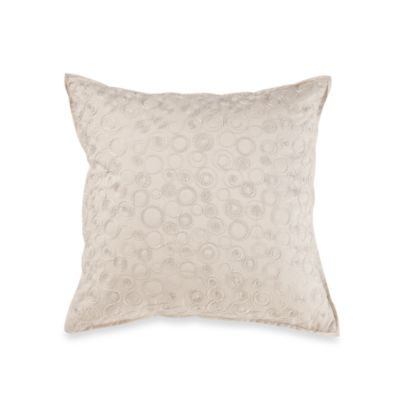 Real Simple® Linear Square Throw Pillow in Stone