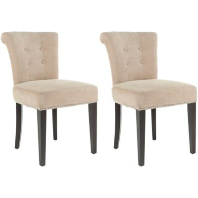 Safavieh Sinclair Beige Side Chair (Set of 2)