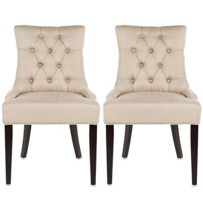 Safavieh Abby Side Chairs in Beige (Set of 2)