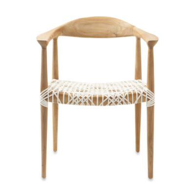 Safafieh Bandelier Reclaimed Teak Arm Chair with Light Oak Finish